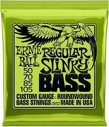 Ernie Ball Regular Slinky Nickel Wound Bass Set, .050 – .105